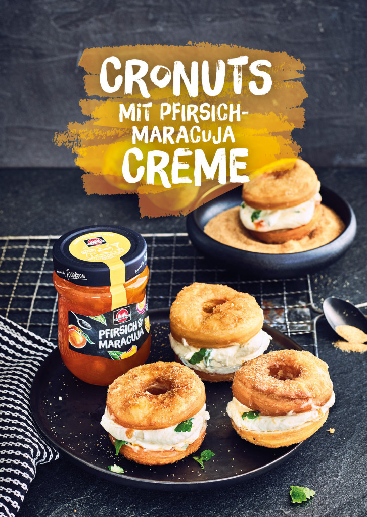 Schwartau Postkarten, Design und Layout Cronuts Rezept Cover| Grafik Design Freelancer Berlin