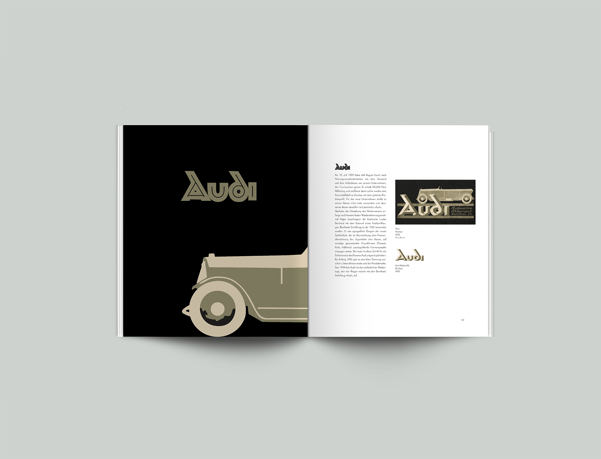 Broschüre Lucian Bernhard Audi - Layout, Design - Grafik Design Freelancer Berlin