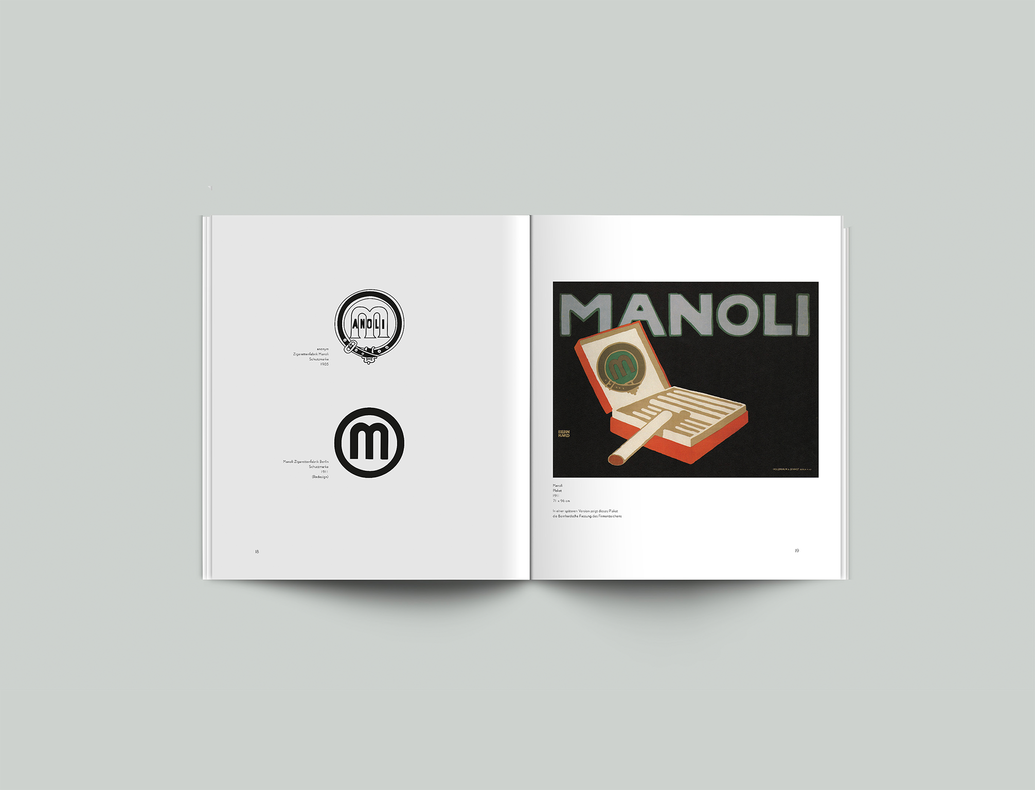 Broschüre Lucian Bernhard Manoli - Layout, Design - Grafik Design Freelancer Berlin