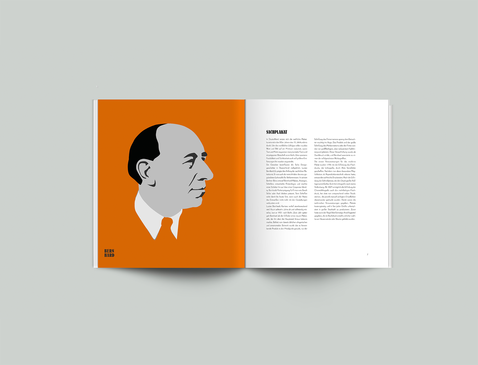 Broschüre Lucian Bernhard Sachplakat - Layout, Design - Grafik Design Freelancer Berlin