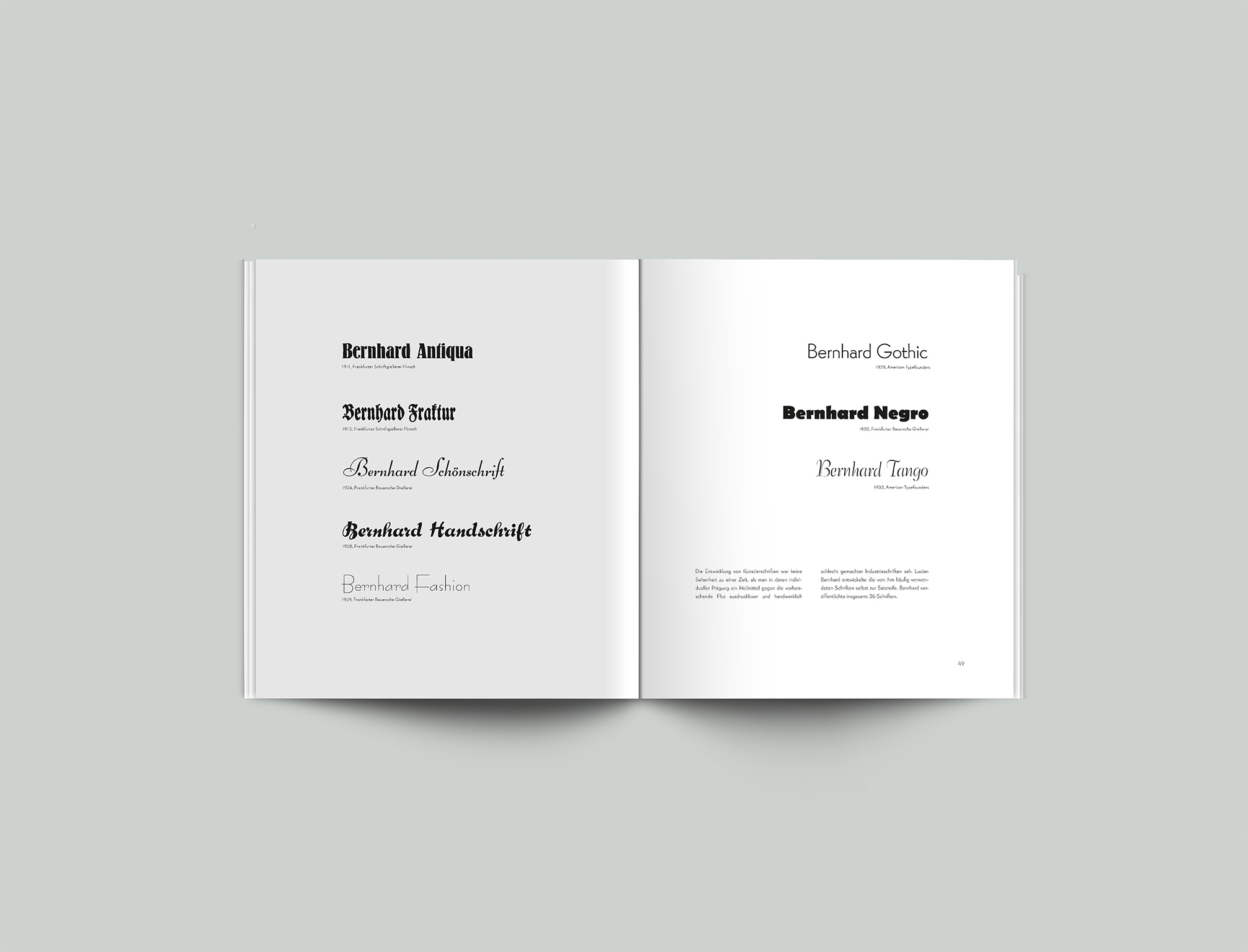 Broschüre Lucian Bernhard Typeface - Layout, Design - Grafik Design Freelancer Berlin