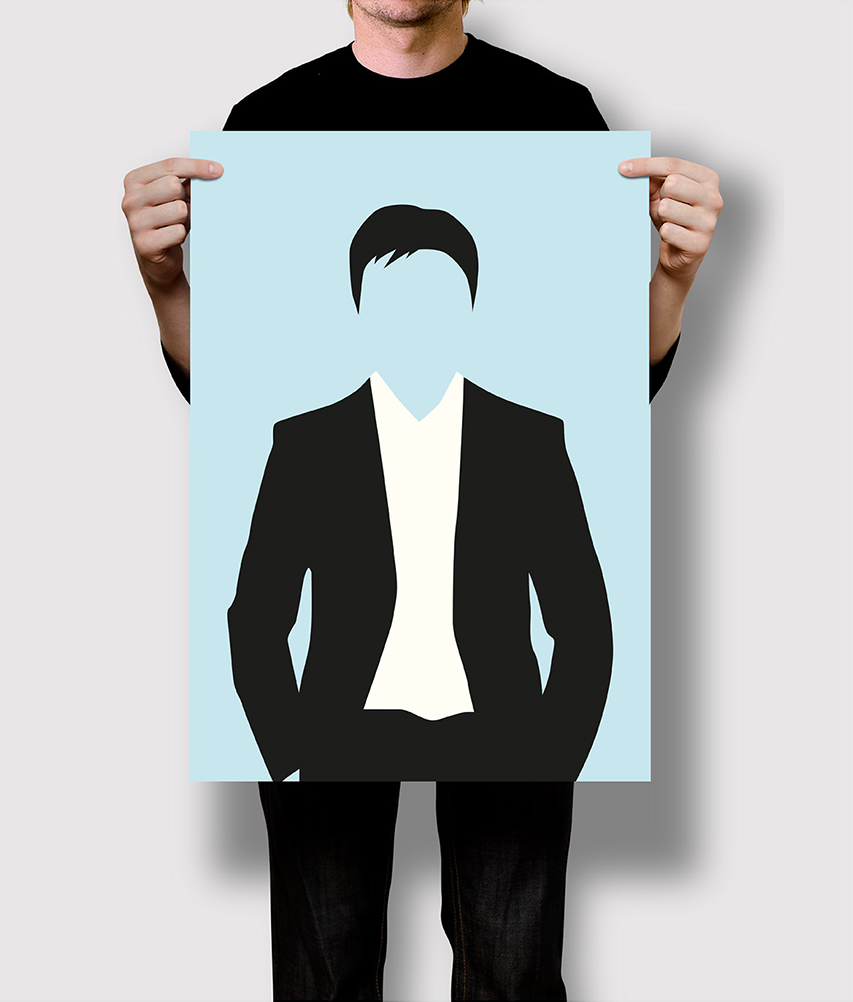 Flat Design Stereotyp Businessman