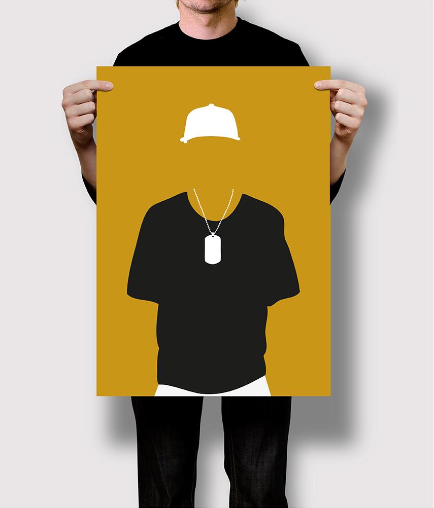 Flat Design Stereotyp Rapper
