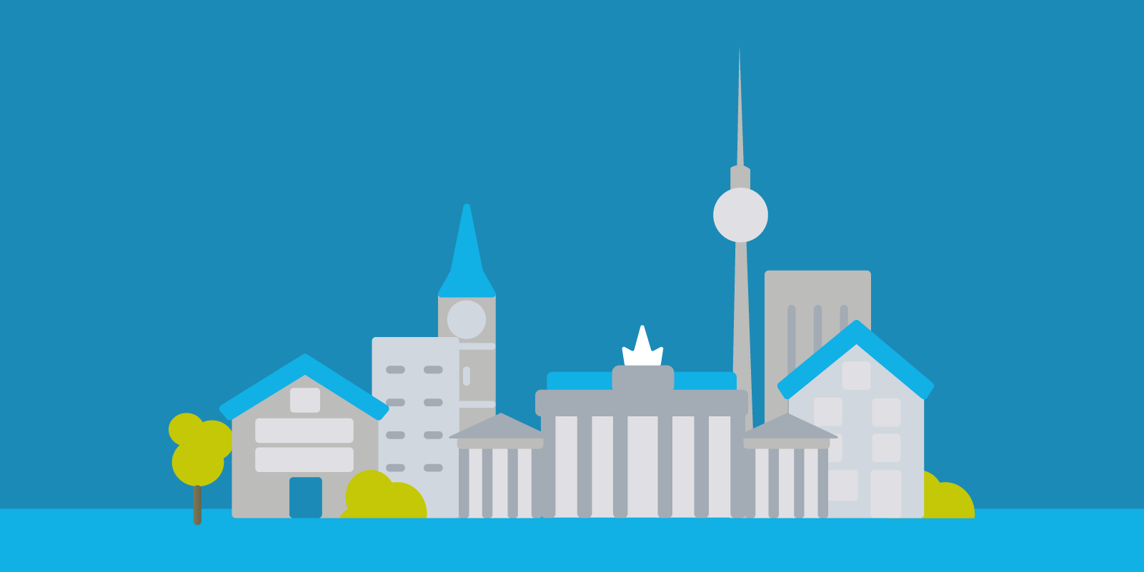 Skyline Berlin Illustration, Animation, Erklärvideo, Motion Design | CC Buchner