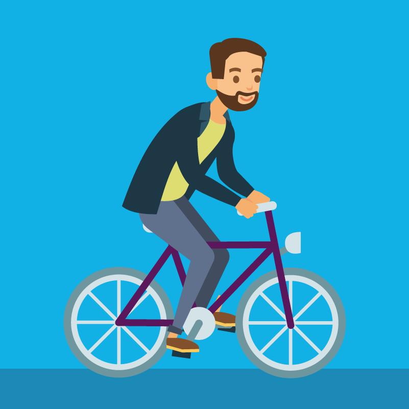 Fahrrad Illustration, Animation, Erklärvideo, Motion Design | CC Buchner