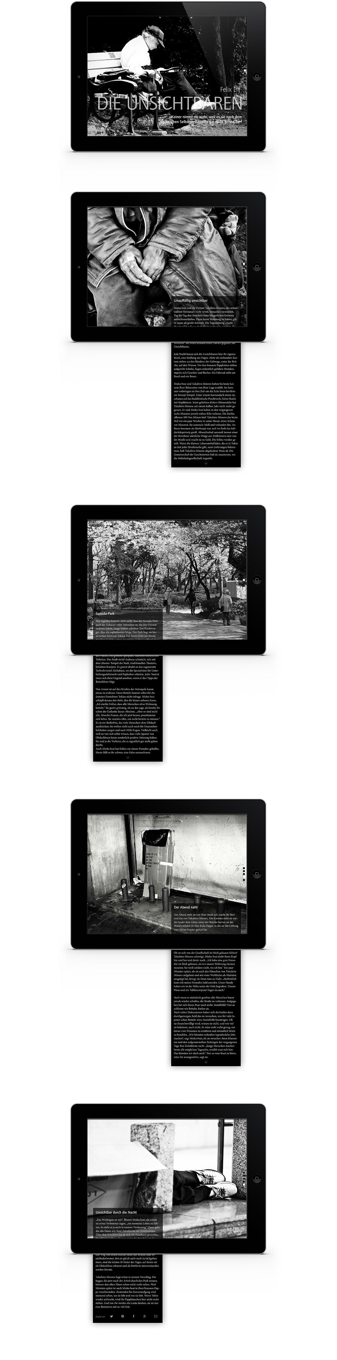 Layout interaktives iPad Magazin Reportage Taxi Tokio | Grafik Design Freelancer Berlin