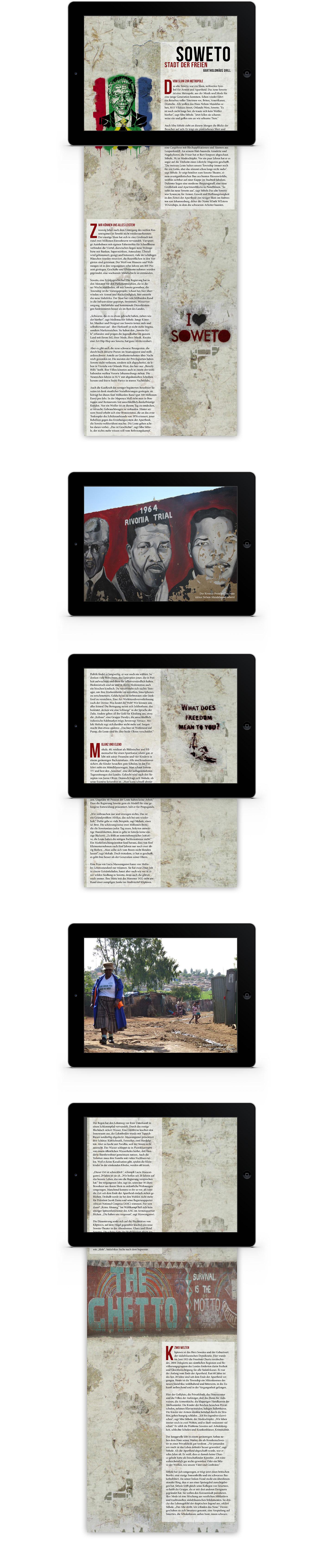 Layout interaktives iPad Magazin Reportage Taxi Soweto | Grafik Design Freelancer Berlin