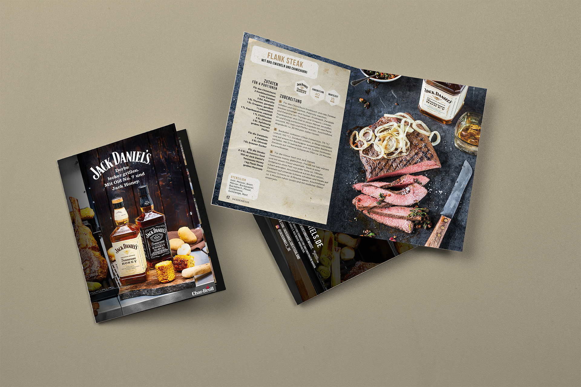 Layout Rezeptbroschüre Jack Daniels | Grafik Design Freelancer Berlin
