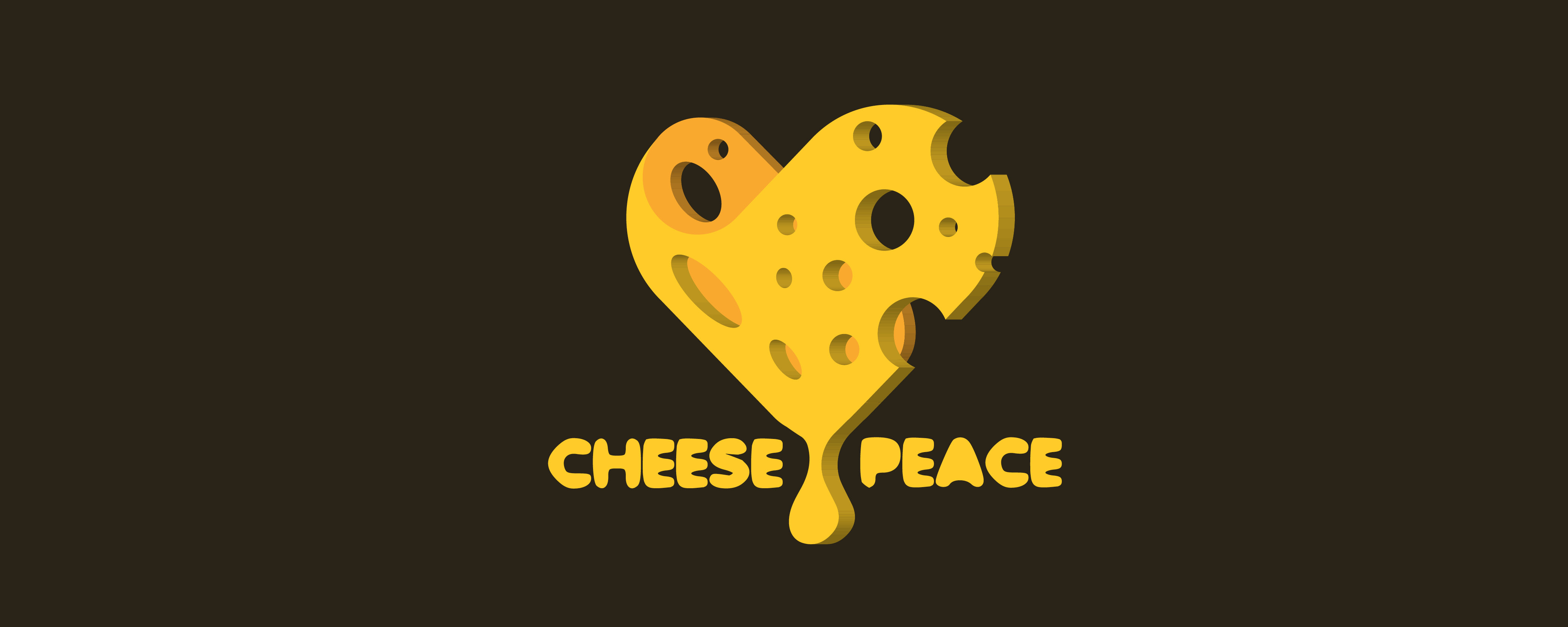 Cheese and Peace Logo Design, Branding, Freelance Grafik Designer Berlin