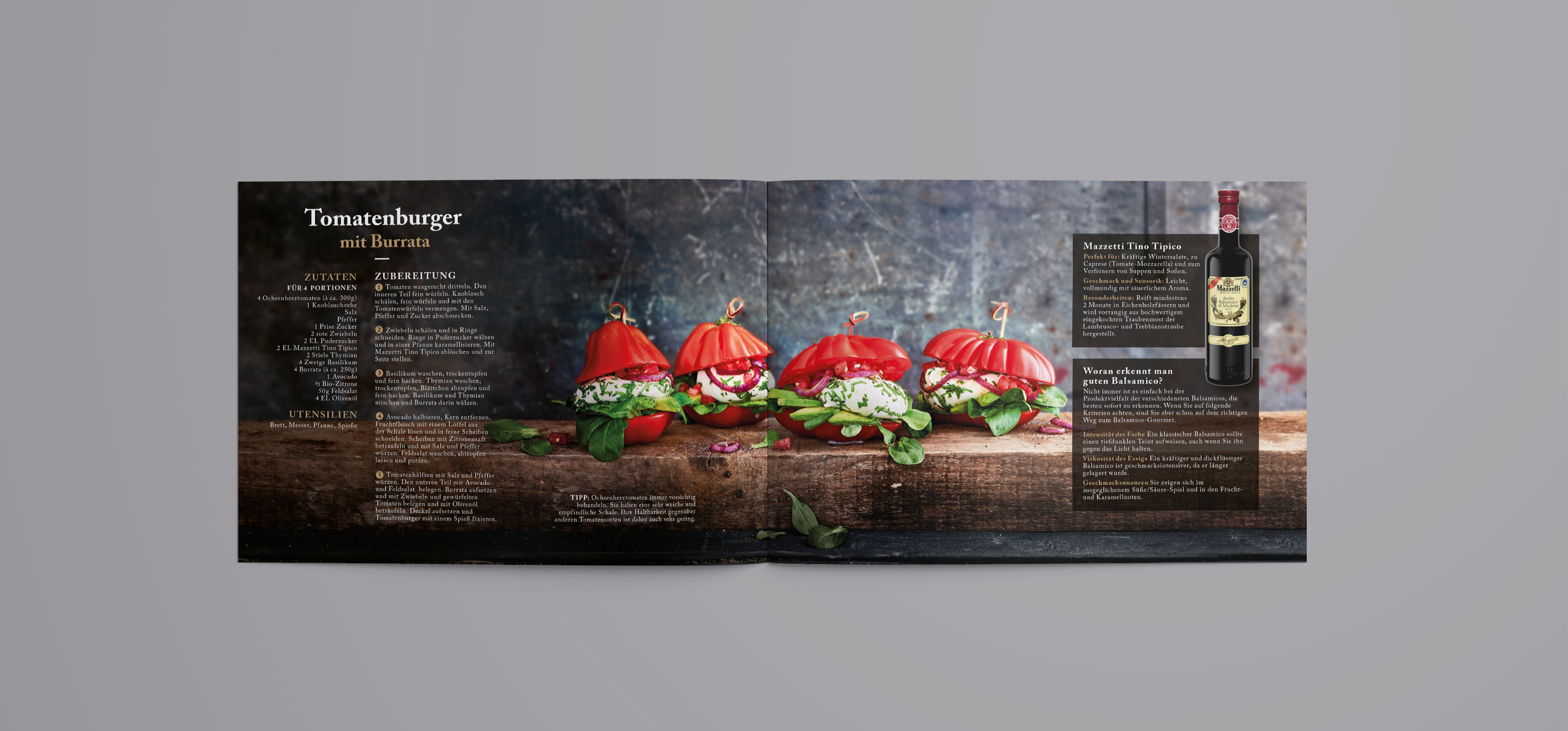 Layout Rezeptbroschüre Mazzetti Burger | Grafik Design Freelancer Berlin