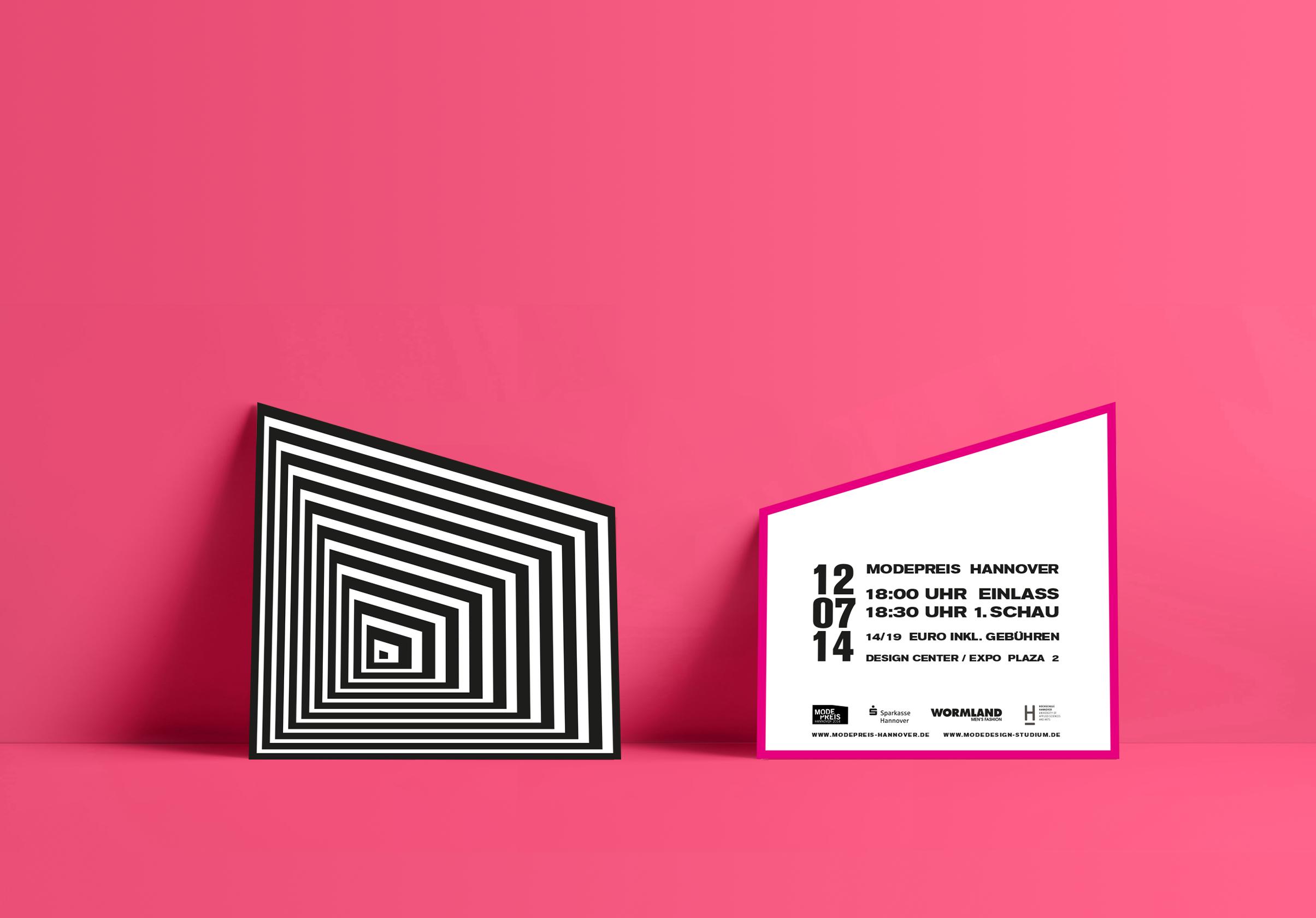Corporate Design, Brandig, Event Design, Modepreis Hannover Eintrittskarten | Freelancer Grafik Design Berlin