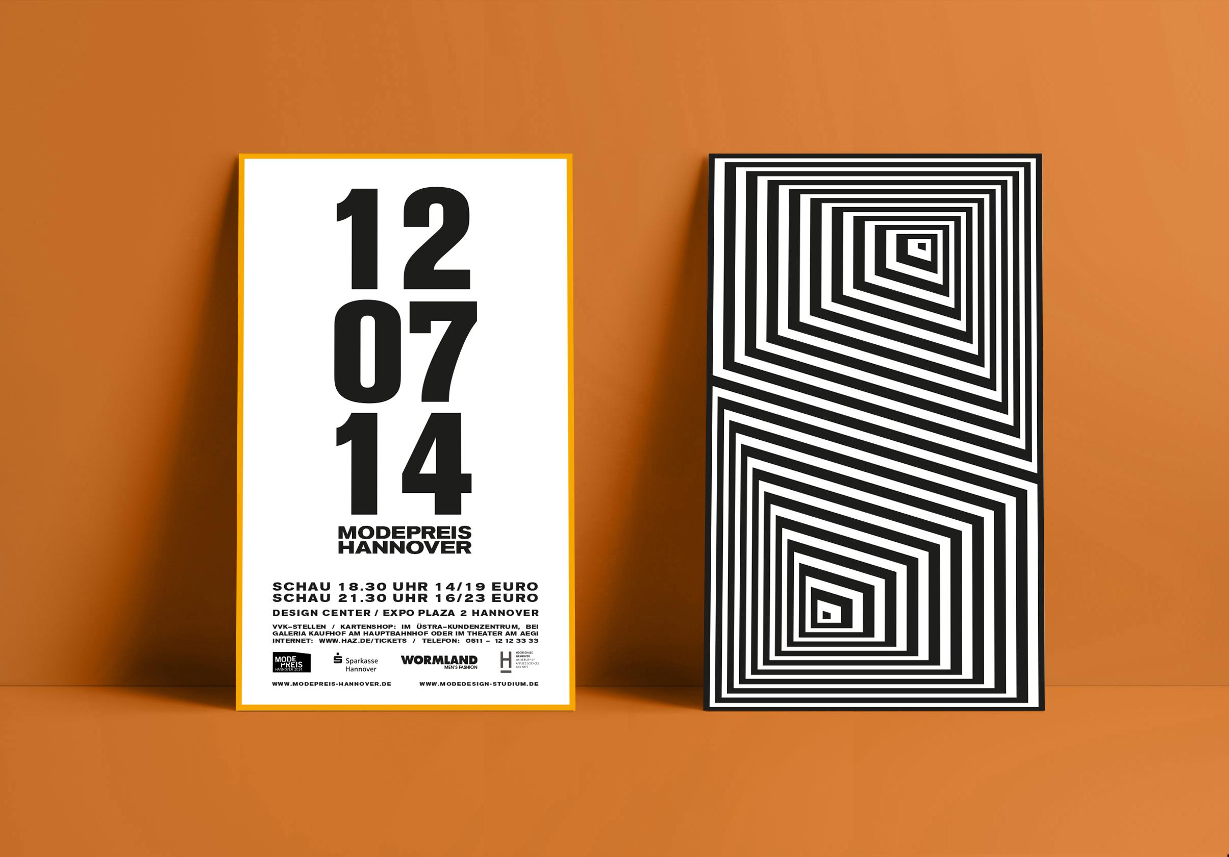 Corporate Design, Brandig, Event Design, Modepreis Hannover Flyer | Freelancer Grafik Design Berlin