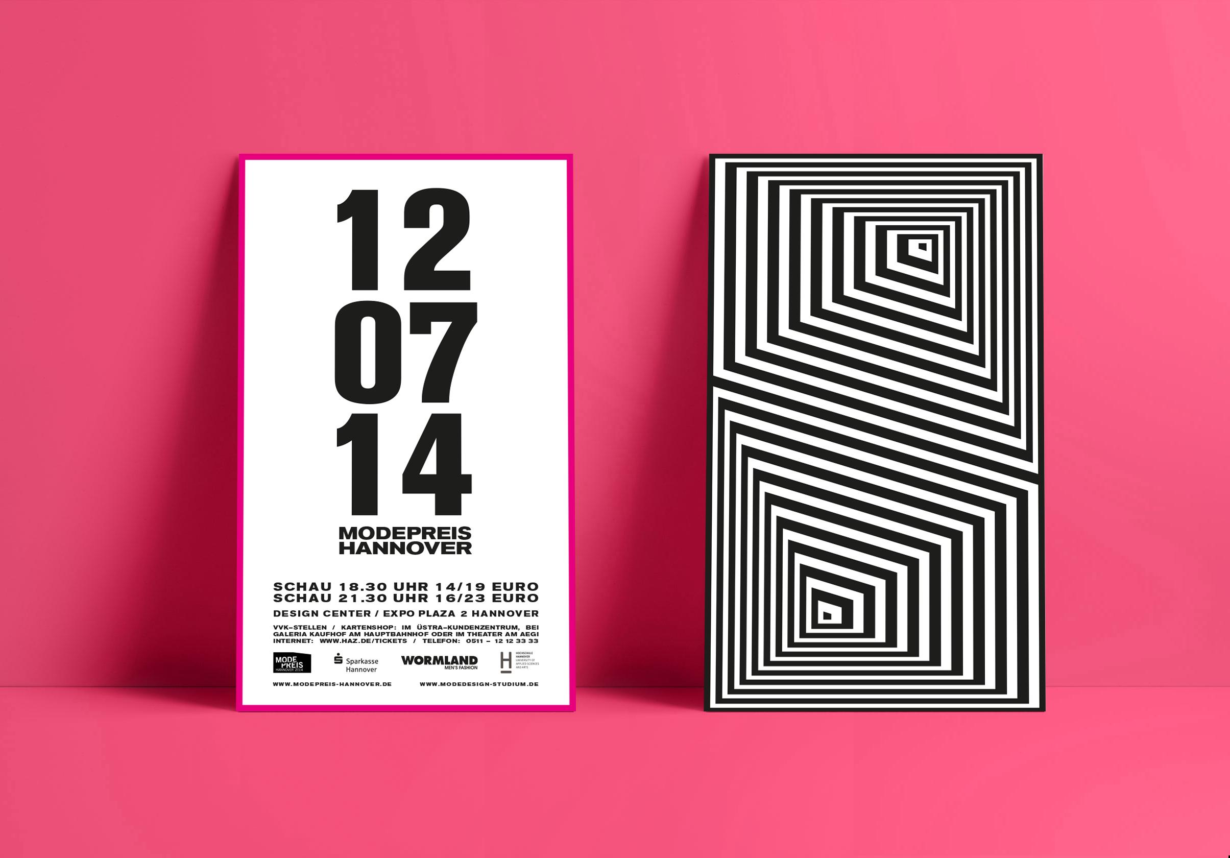 Corporate Design, Brandig, Event Design, Modepreis Hannover Poster | Freelancer Grafik Design Berlin