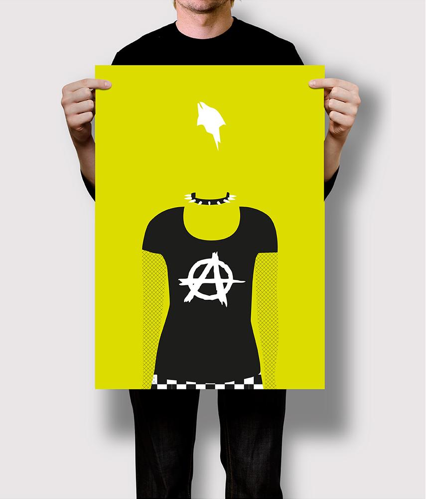 Flat Design Stereotyp Punk