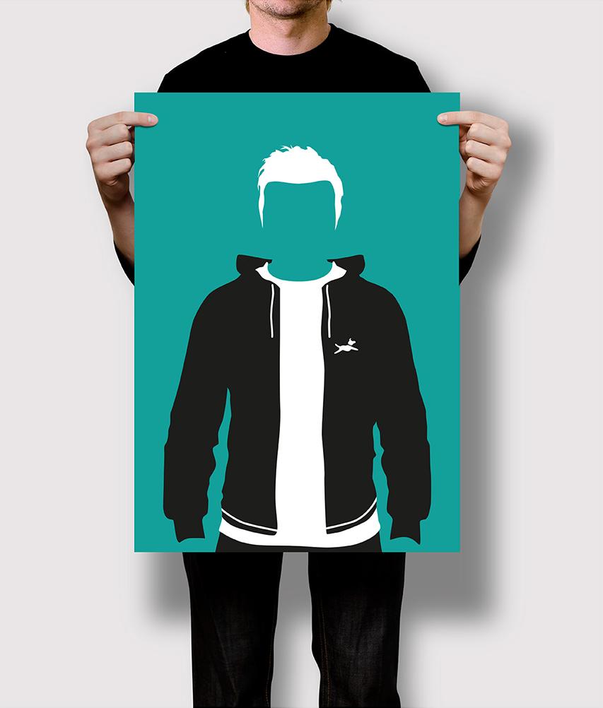 Flat Design Illustration, Poster, Freelance Designer
