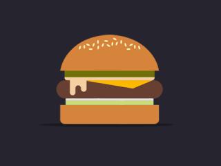 Eine Burger Infografik. Was ist drin?