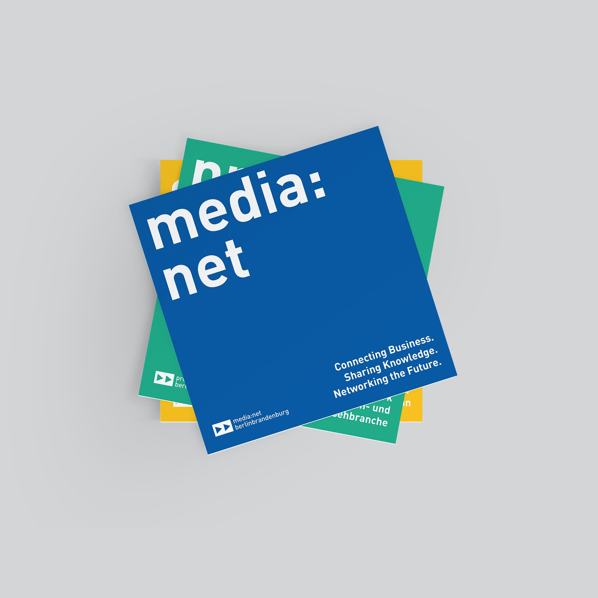Flyer Cover media net berlinbrandenburg und Initiativen   Redesign Corporate Design