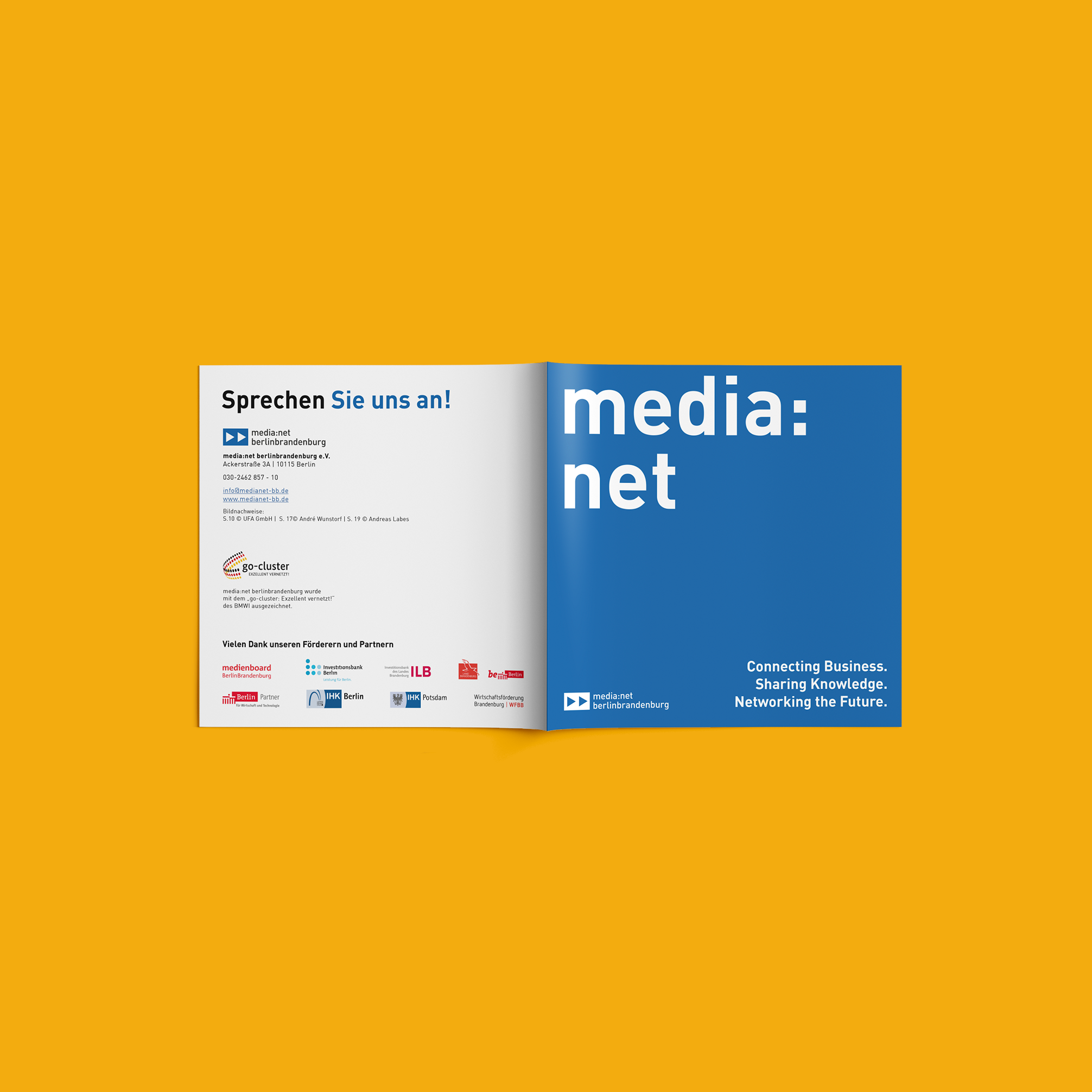 Media net berlinbrandenburg Image Booklet   Redesign Corporate Design - Cover
