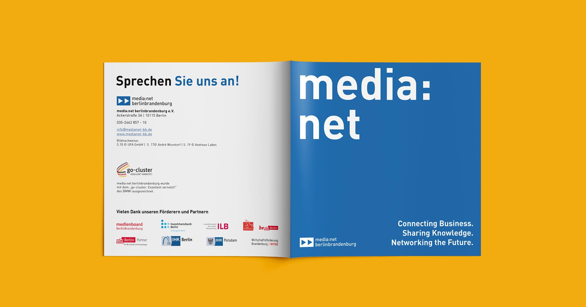 Media net berlinbrandenburg Image Booklet | Redesign Corporate Design - Cover