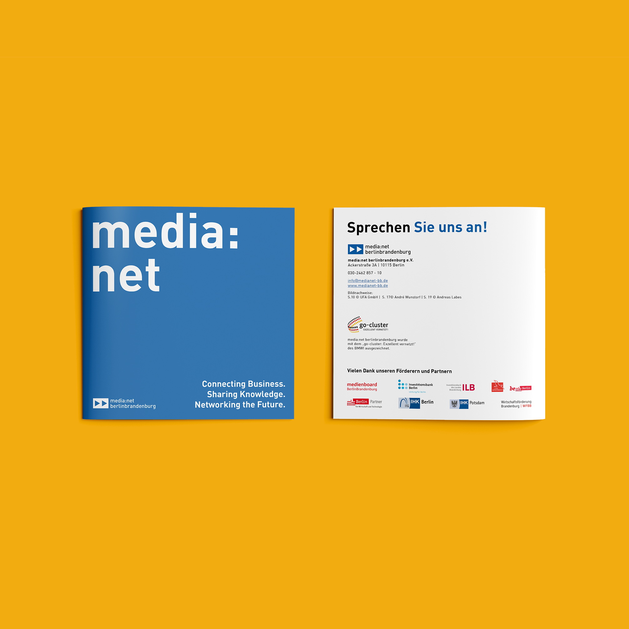 Media net berlinbrandenburg Image Broschüre   Redesign Corporate Design - Cover