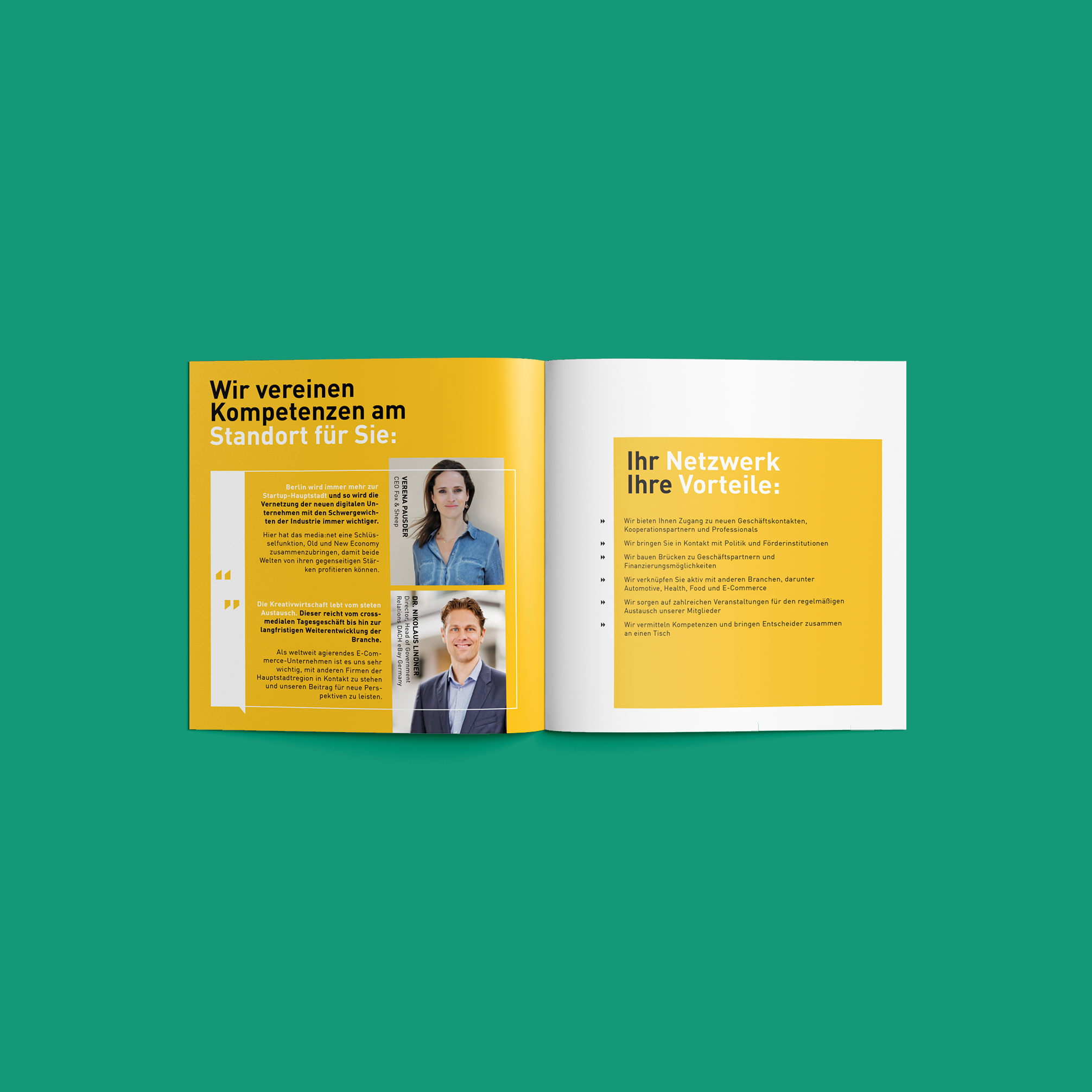 Media net berlinbrandenburg Image Broschüre - Kompetenzen | Corporate Identity - Redesign