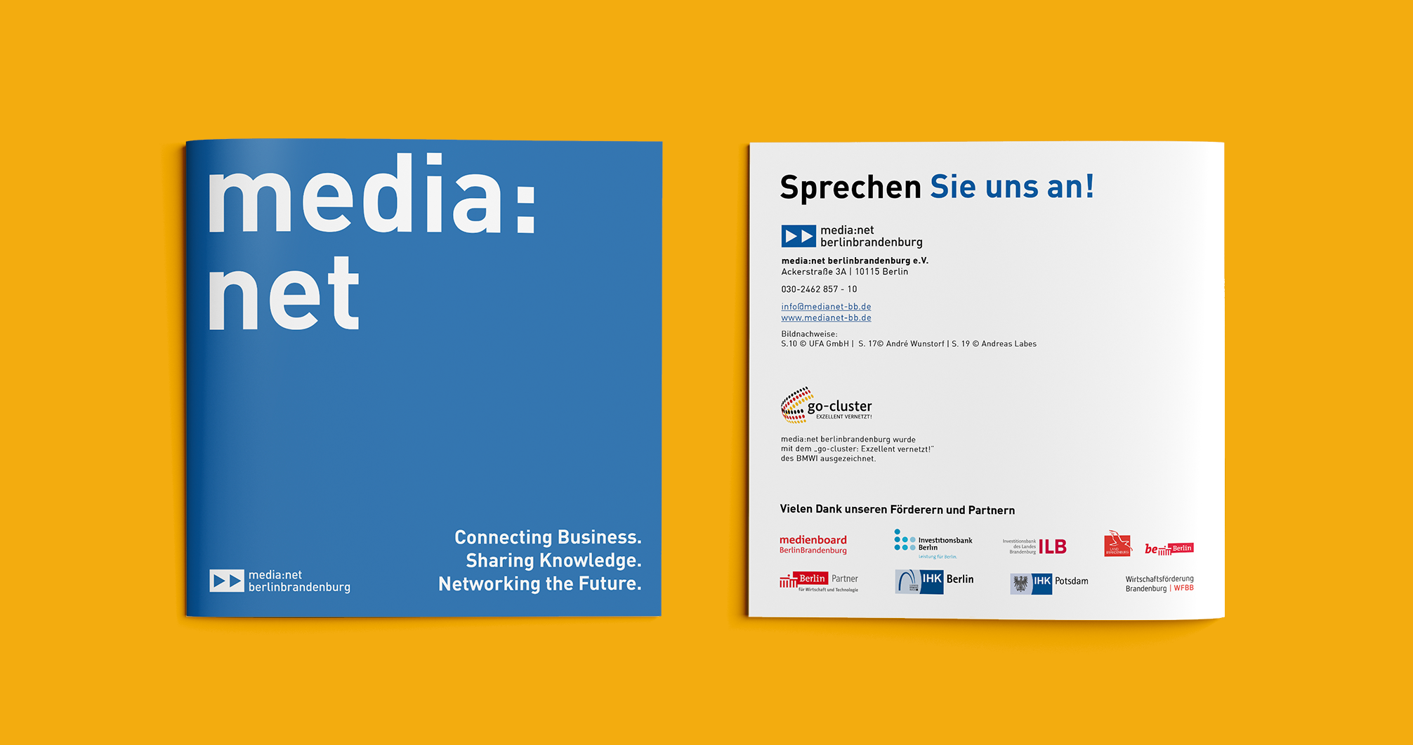 Media net berlinbrandenburg Image Broschüre | Redesign Corporate Design - Cover
