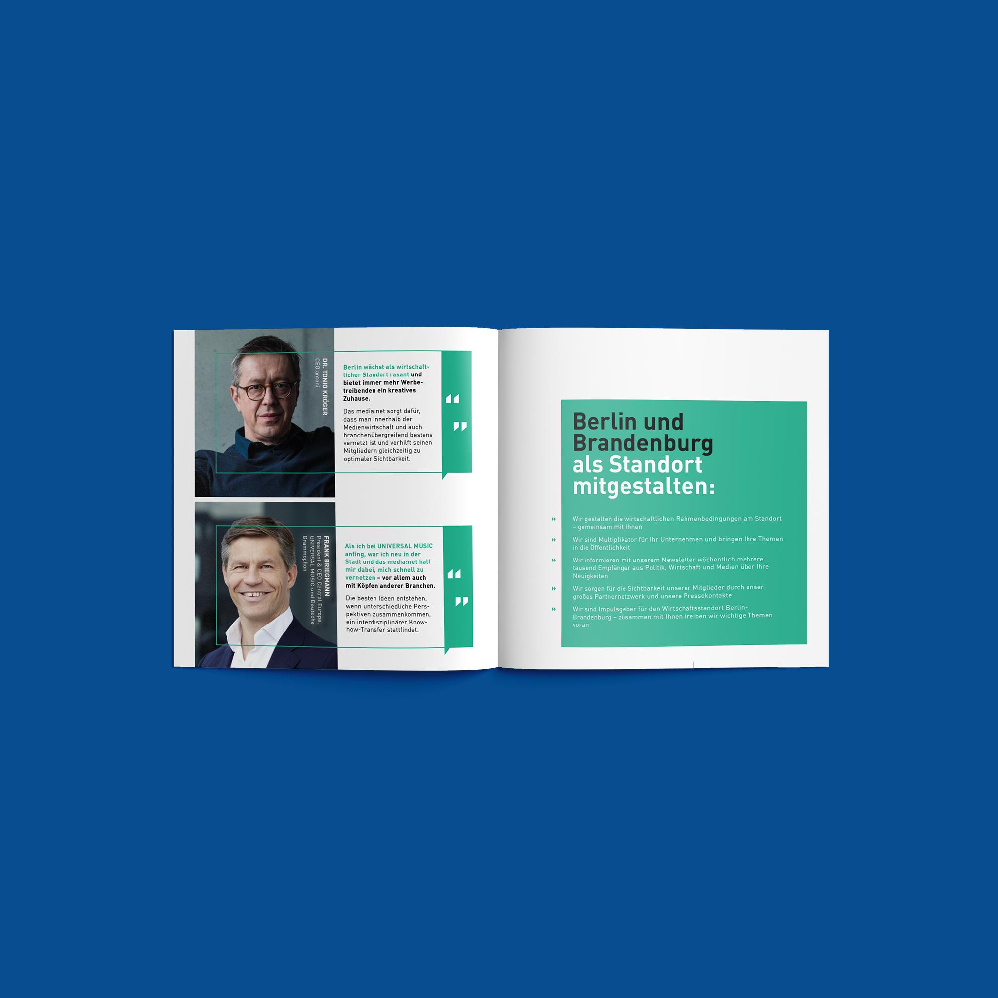 Media net berlinbrandenburg Image Booklet   Redesign Corporate Identity - Berlin