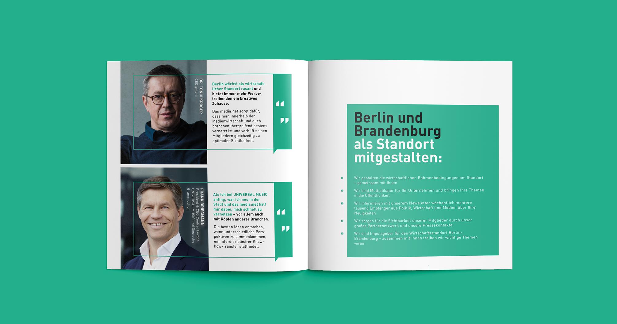 Media net berlinbrandenburg Image Booklet | Redesign Corporate Identity - Berlin