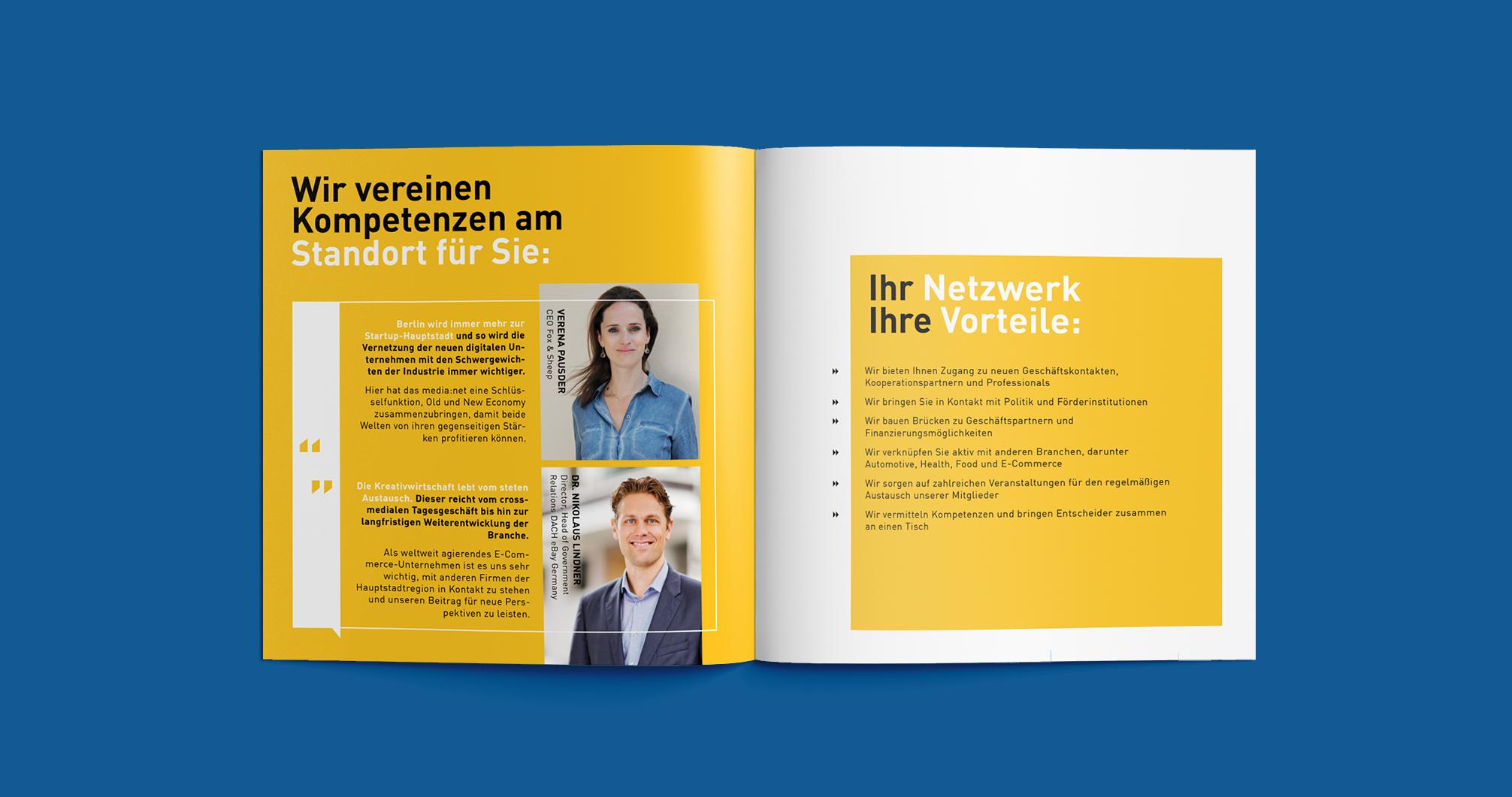 Media net berlinbrandenburg Image Broschüre - Kompetenzen   Corporate Identity - Redesign