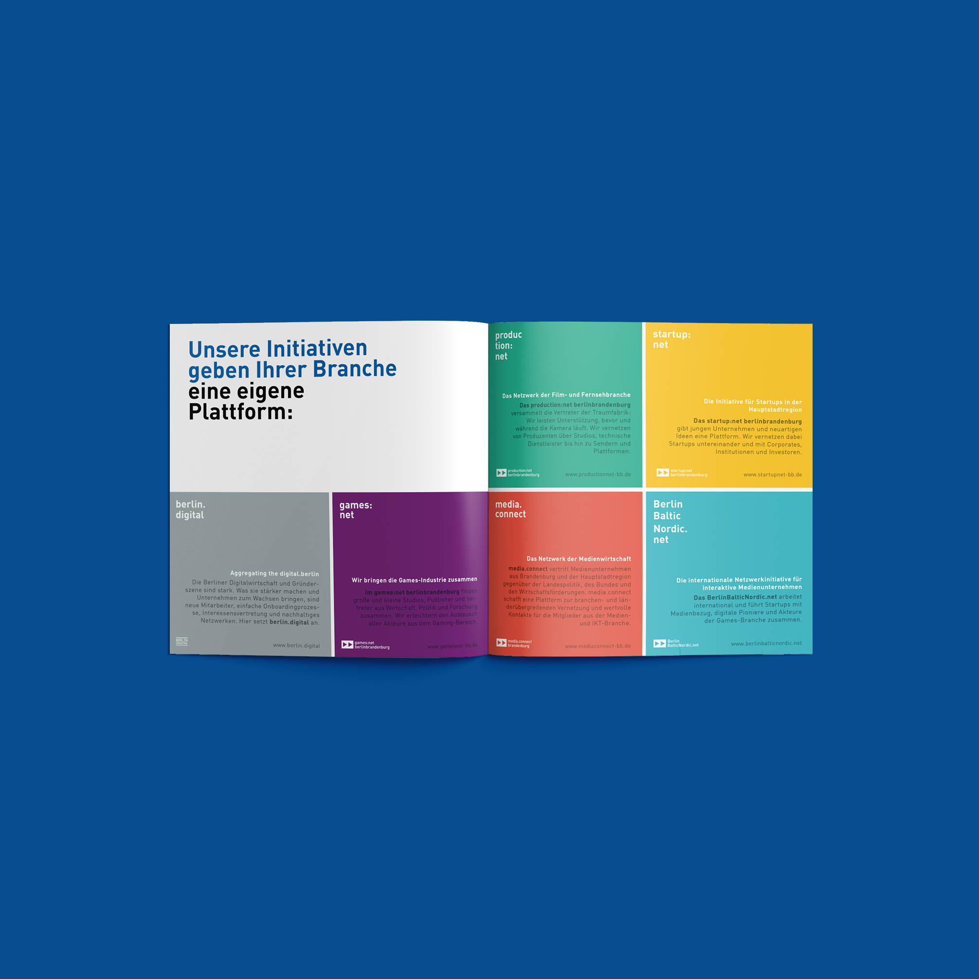 Redesign Media net berlinbrandenburg Image Broschüre - Branche | Corporate Design