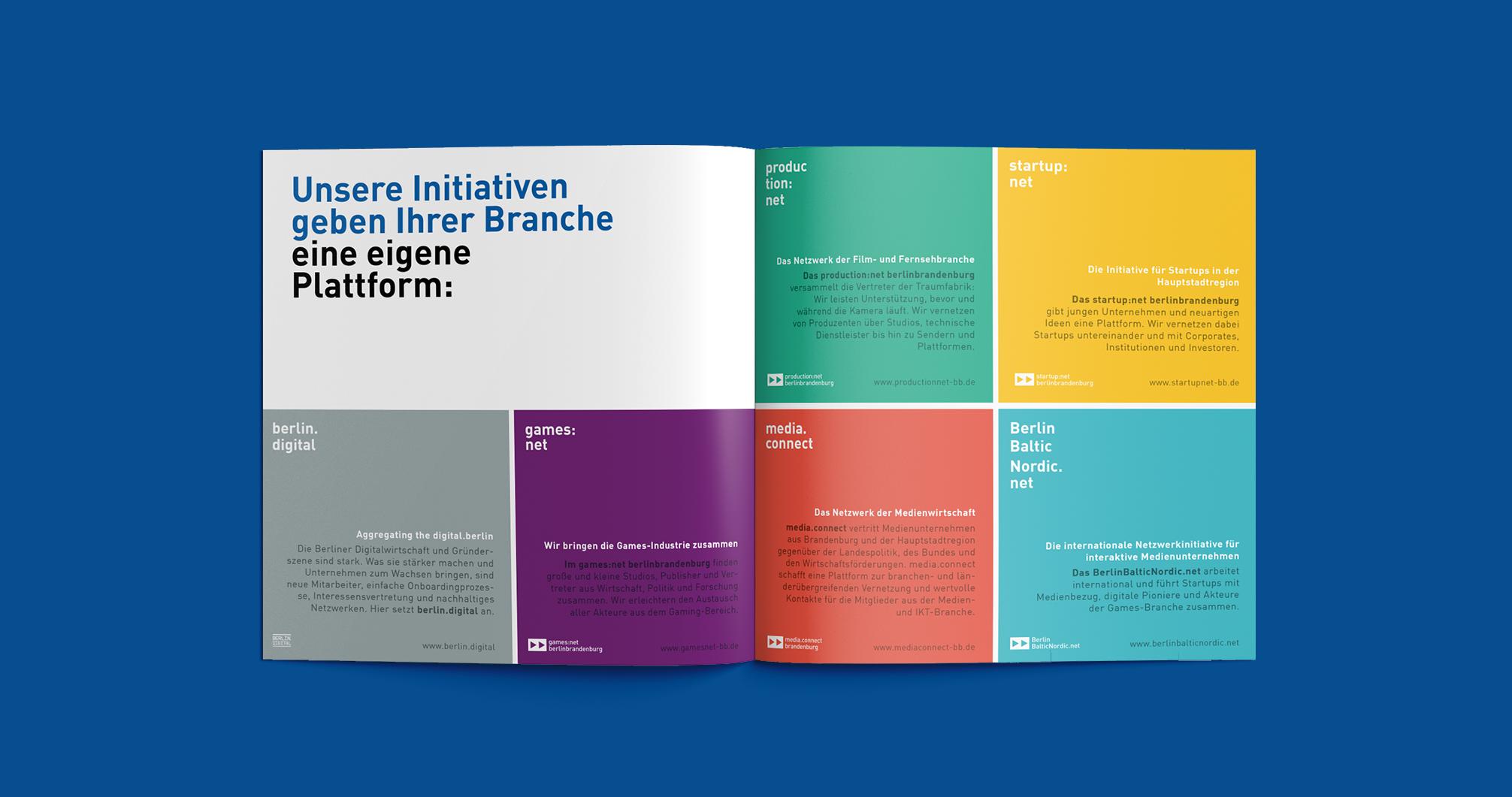 Redesign Media net berlinbrandenburg Image Broschüre - Branche   Corporate Design