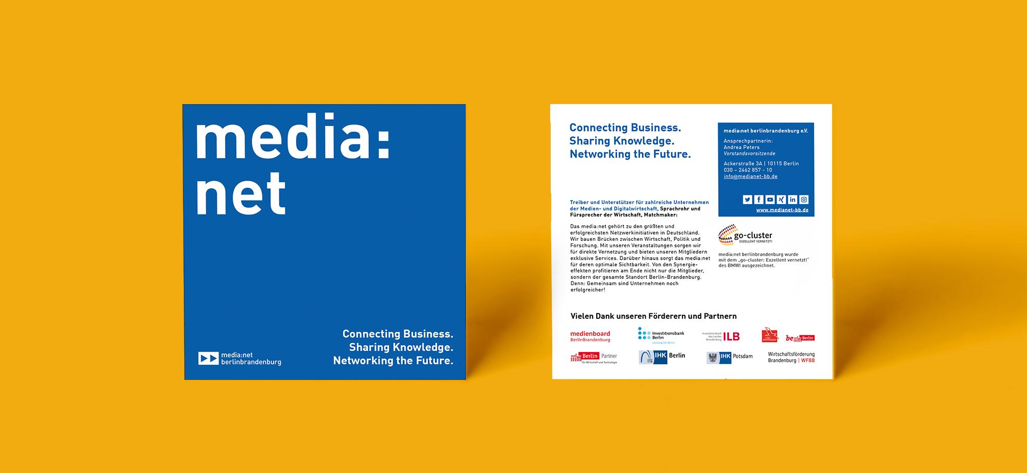 Media net berlinbrandenburg Flyer Redesign und Layout   zweiseitig
