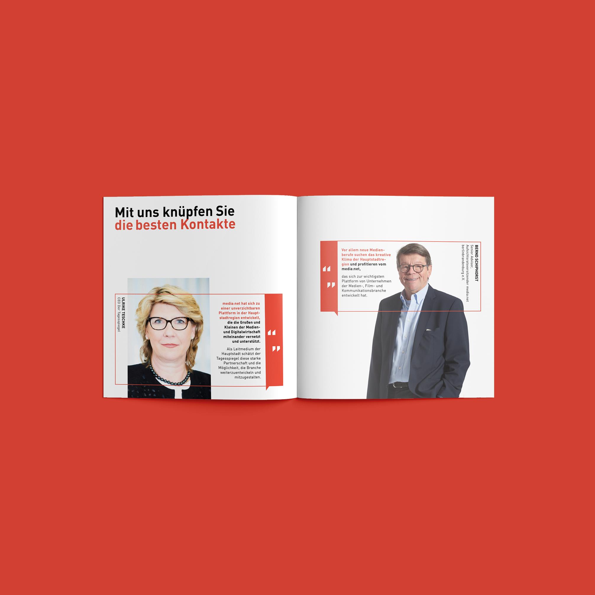 Media net berlinbrandenburg Unternehmens Broschüre | Redesign Corporate Design