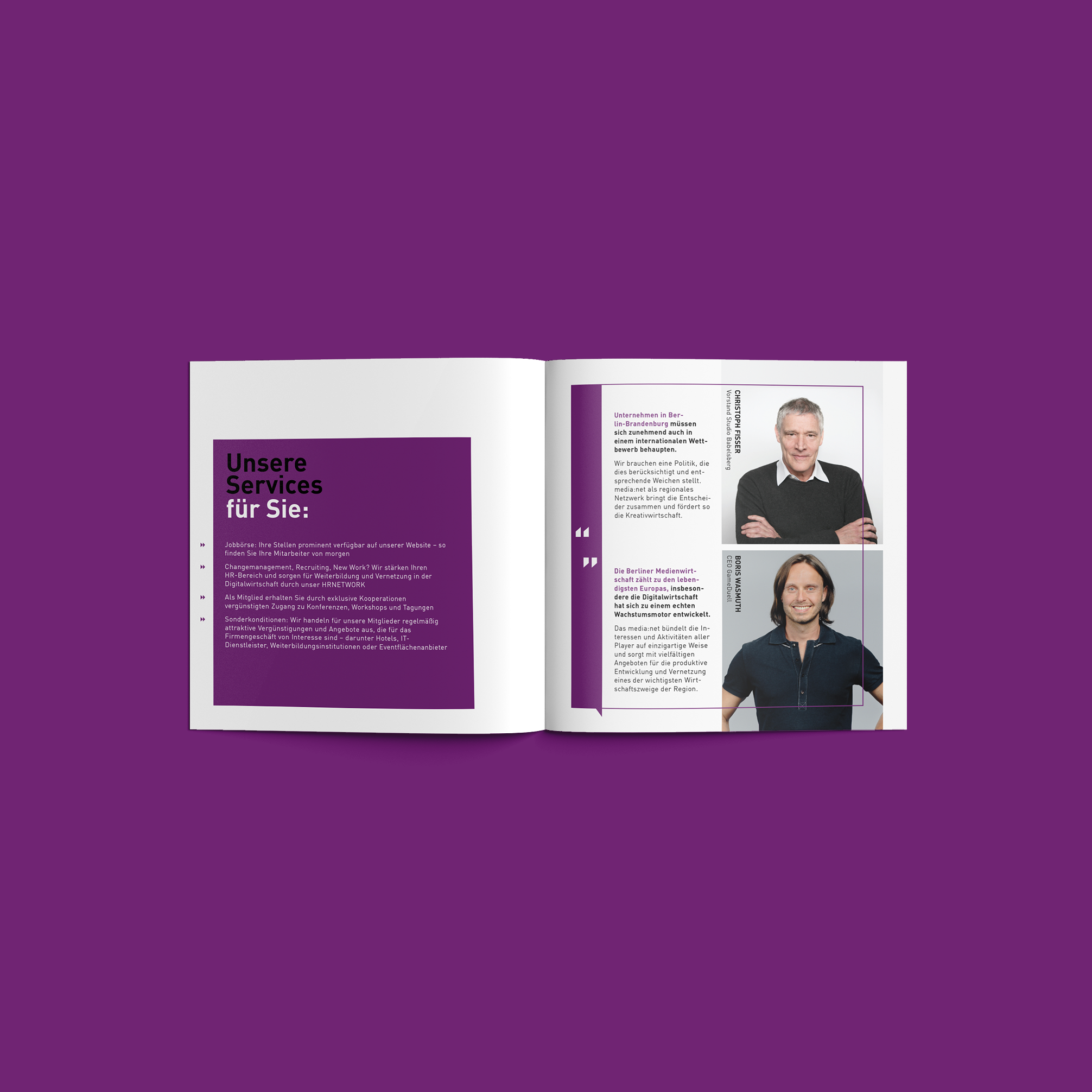 Media net berlinbrandenburg Business Broschüre | Redesign Corporate Design