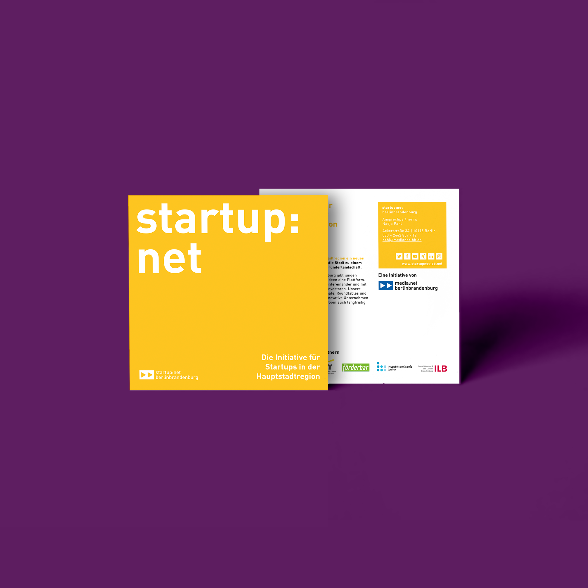 Startup net berlinbrandenburg Flyer Redesign und Layout   zweiseitig