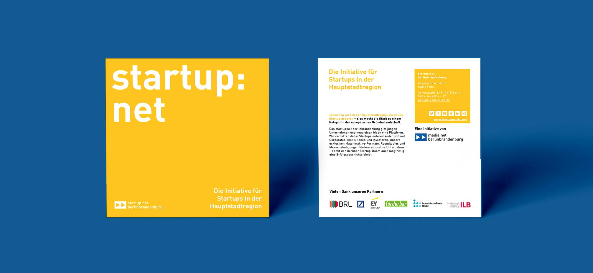 Startup net berlinbrandenburg Flyer Redesign und Layout | zweiseitig